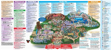 printable map  disneyland  california adventure