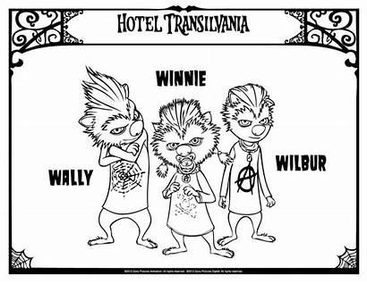Transylvania Hotel Coloring Pages Printable Vacation Summer