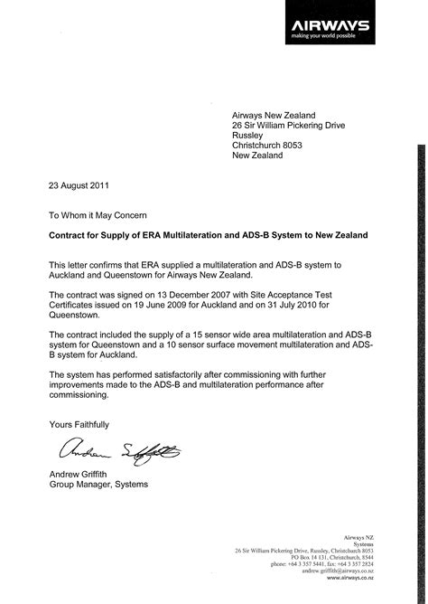 reference letter template new zealand