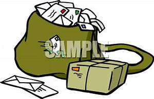 Mail Bag Full of Letters - Royalty Free Clip Art Picture