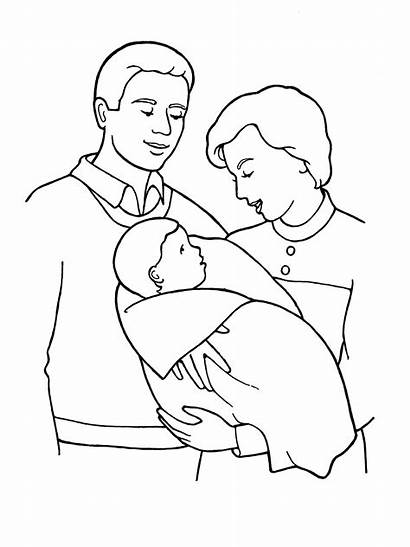 Mother Father Drawing Sketch Parents Coloring Pages