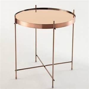 Table Basse Miroir : table basse gu ridon m tal plateau miroir cupid zuiver ~ Melissatoandfro.com Idées de Décoration