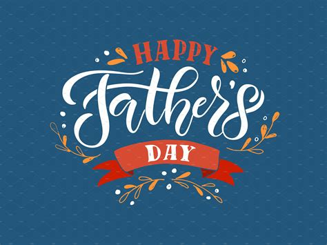 It is a modern holiday, though the ancient romans did have a tradition of honouring fathers, every february, but only those. Happy Father's Day Card   Creative Templates ~ Creative Market
