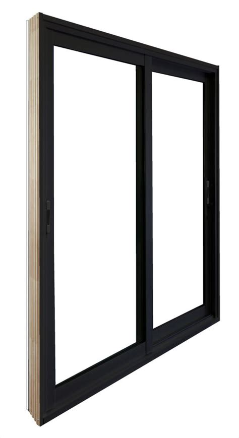 stanley doors 72 inch x 80 inch black sliding patio