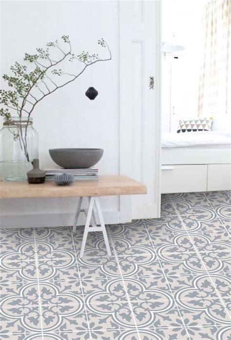 vinyl floor tile sticker trefle sand kitchen