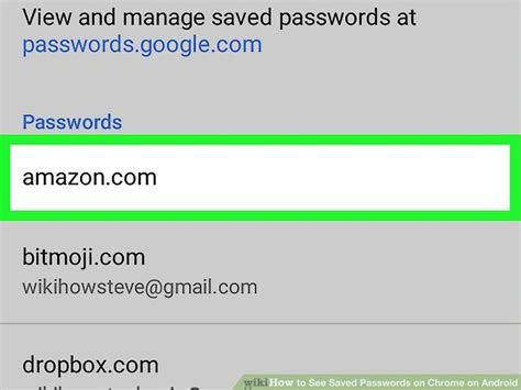 view saved passwords android how to see saved passwords on chrome on android 8 steps