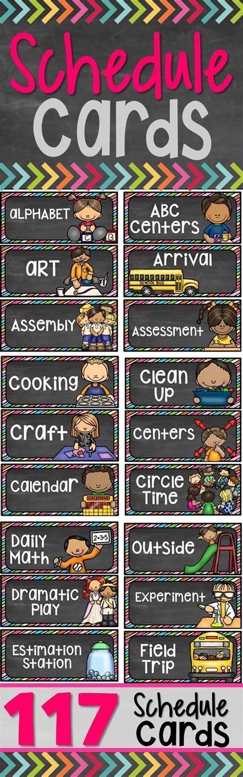 schedule cards schedule cards classroom schedule