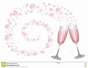 Pink Champagne, Bubbles And Sparkles Stock Illustration ...