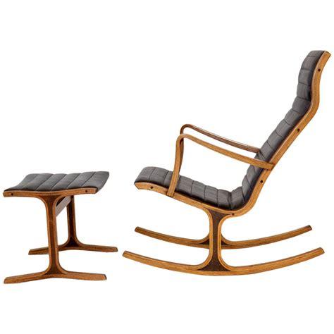 quot heron quot rocking chair and ottoman by mitsumasa sugasawa for tendo mokko at 1stdibs