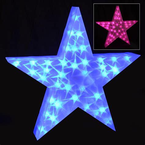 Holographic Led Star Light Up 50cm Christmas Decoration