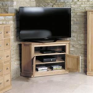 Mobel Oak Corner Television Cabinet Wooden Furniture Store