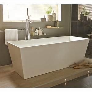 Baignoire Ilot Pas Cher : baignoire lot rectangulaire cm blanc brillant ~ Premium-room.com Idées de Décoration