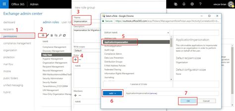 Office 365 Portal Roles by How To Grant Application Impersonation Rights In Office 365