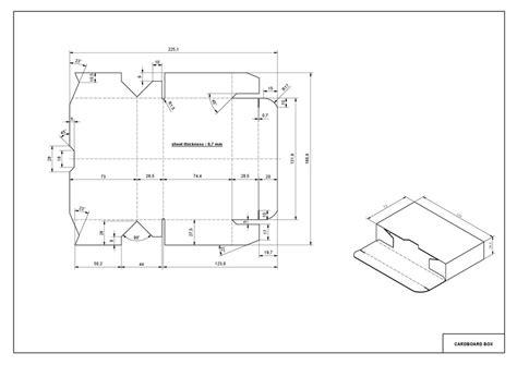 cardboard box  cad model library grabcad