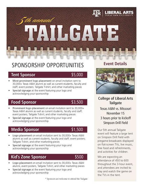 tailgate sponsorship flyer work portfolio