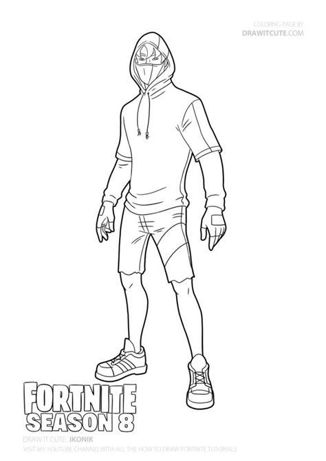 disegni da colorare fortnite skin season 8 how to draw ikonik fortnite season 8 drawing tutorial