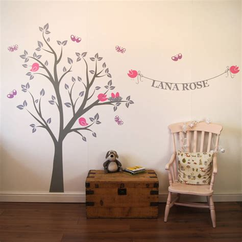 personalised bird 39 s nest tree wall stickers by parkins interiors notonthehighstreet com