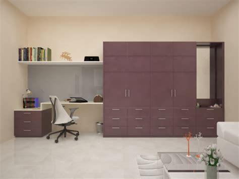 Wardrobe Designs With Study Table - Wardrobe Closet Design