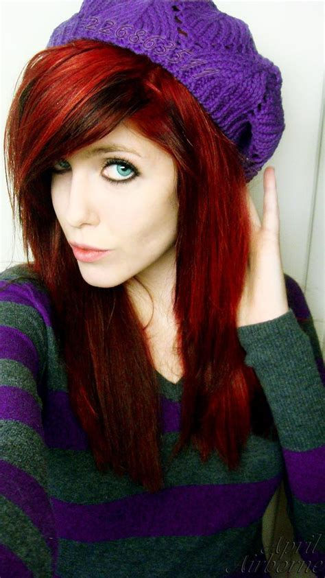 Red And Black Hair By Kittybaby414 On Deviantart