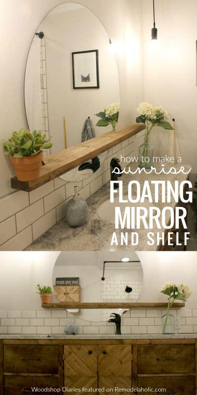 Bathroom Mirror Ideas Diy by How To Make A Modern Floating Mirror Shelf