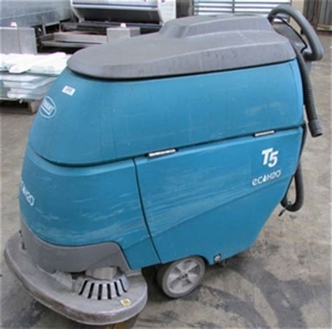 floor scrubber tennant t5 eco h20 battery electric walk