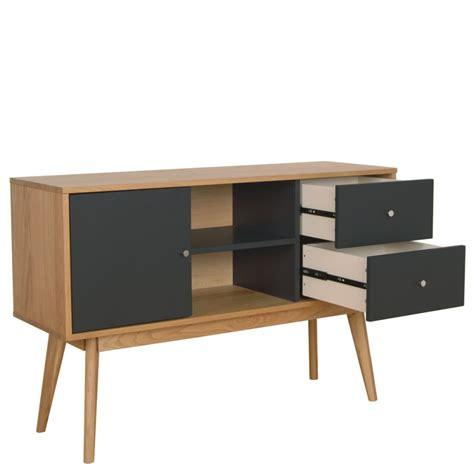buffet scandinave design laque mat  bois skoll  drawer