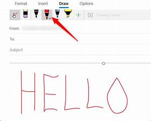 How To Use Drawing Tools In Windows 10 Mail