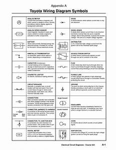 Component Wiring Diagram Key Toyota Symbols Circuit Symbol