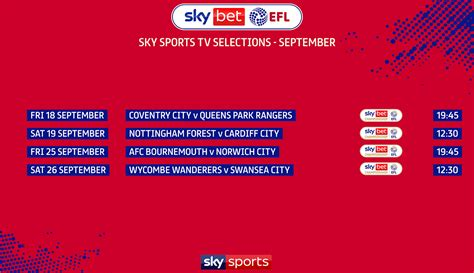 Latest EFL TV selections confirmed - News - EFL Official ...
