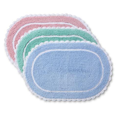 colormate vintage lace cotton bath rug collection