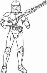 Clone Wars Trooper Drawing Coloring Gun Getdrawings sketch template