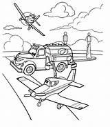 Garage Coloring Pages Planes Getcolorings Cars Pixar Printable sketch template