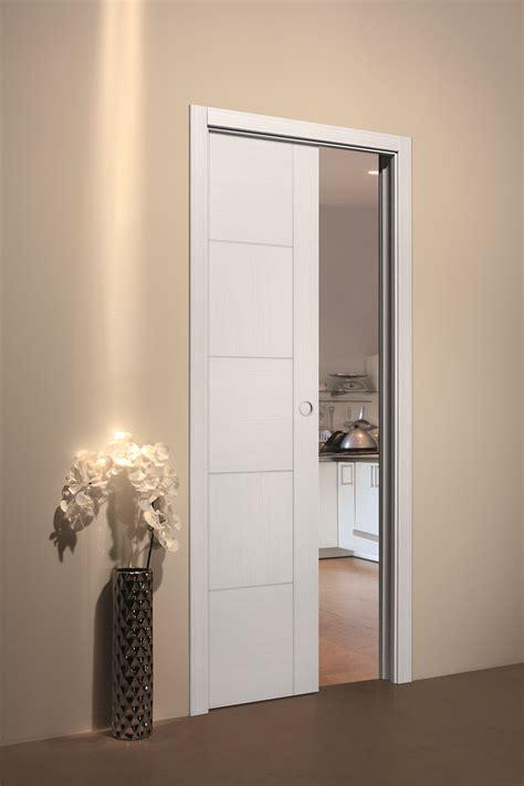 porte coulissante interieur porte coulissante 224 galandage blanche porte coulissante