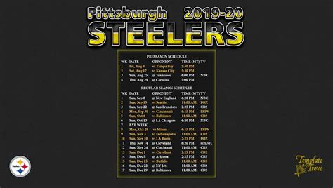pittsburgh steelers wallpaper schedule