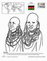 Maasai Coloring Worksheet Kenya Geography African Pages Worksheets Africa Education Colouring Google East Necklace Map Cultures Grade Explore Social 2nd sketch template