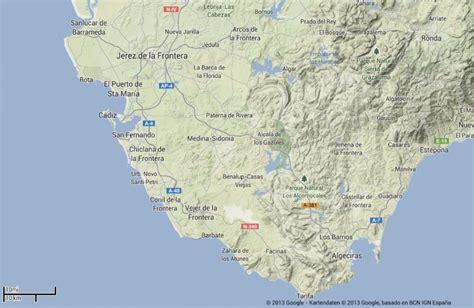Karte Costa De La Luz