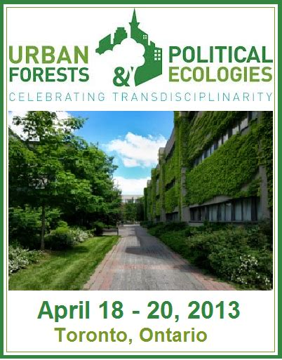The GREEN MARKET ORACLE: Event - Urban Forests & Political ...