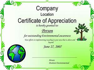 general environmental award template With certificate of recycling template