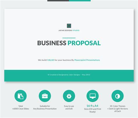 business proposal powerpoint template  behance
