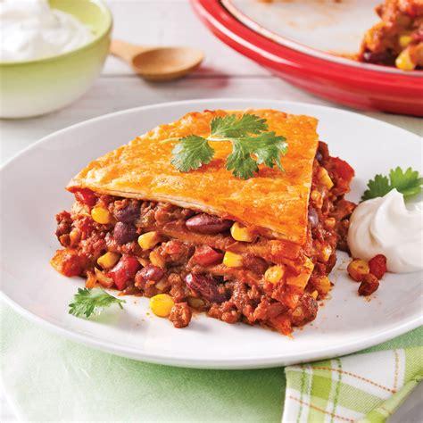 cuisine mexicaine tortillas lasagne mexicaine végétarienne recettes cuisine et nutrition pratico pratique
