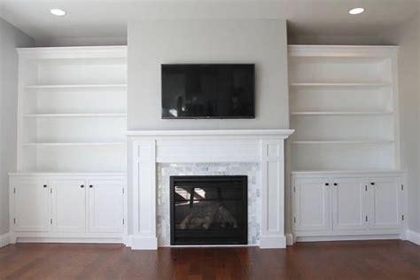 Build Blueprints   Shaker Style Fireplace Cabinets
