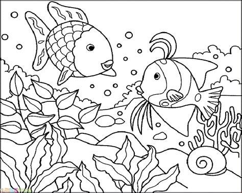 contoh gambar mewarnai ikan laut