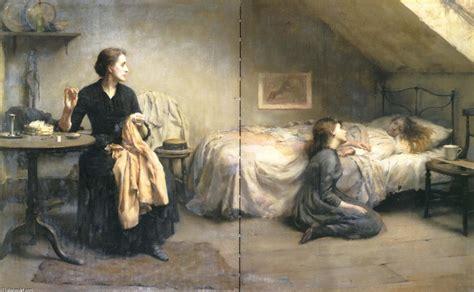 chambre de bonne widowed and fatherless 1888 by benjamin kennington 1856 1916 united kingdom