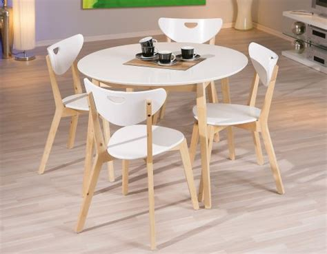 ensemble table ronde 4 chaises table laque blanche pas cher