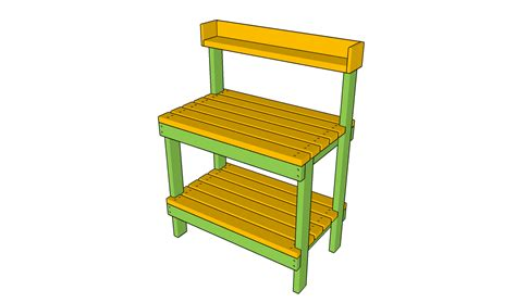 potting bench plans with sink free garden plans how to