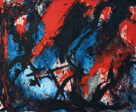 Abstract Black And Blue Painting by Abstract In Blue Black Painting By Joe Michelli