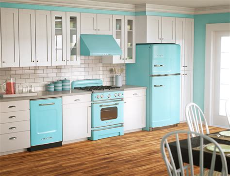 kitchen  retro blue appliances pictures