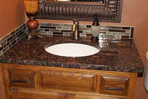 tan brown granite traditional bathroom kansas city With kitchen cabinets lowes with tiger eyes wall art