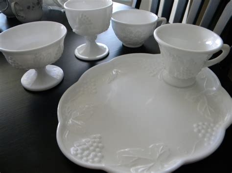 what is milk glass daze of grace milk glass luncheon plates