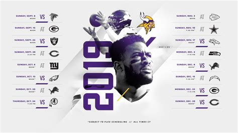 minnesota vikings  schedule released